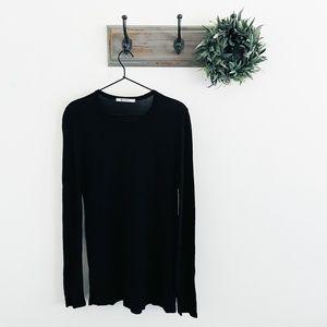T By Alexander Wang Black Pocket T-Shirt Tunic M